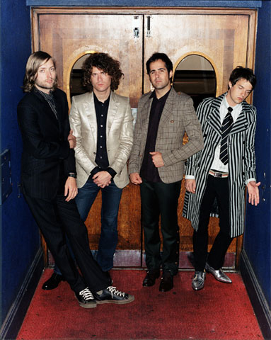 Deserving of Cute Band title: Indie rockers in blazers, skinny pants and Converse.  You're killing me.