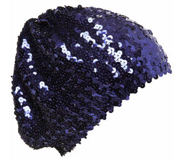 Black sequin beret! OMG, can you handle it?