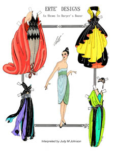 How cool is this? Erte Paper Dolls.  Um, we should totally bring back paper dolls.