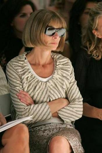 Anna Wintour is judging you in her Chanel boucle jacket.