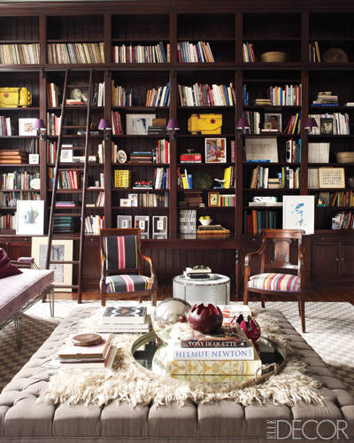 library Elle Decor