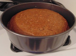 Voila! Carrot Cake perfection. The house smells so delicious.
