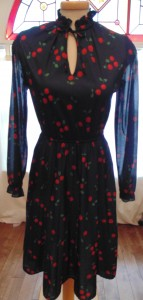 Vintage Cherry Dress: I bought this at I Miss You Vintage but I never wore it. Could be yours!