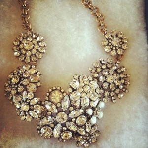 J.Crew Flower Latice Necklace: Sometimes I see girls around the office wearing the most amazing statement necklaces and I'm not gonna lie, I'm kind of jalouse (jealous in French).