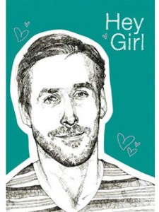 """Hey girl, can we cuddle yet?"" Ryan Gosling notebook. He always knows what to say."