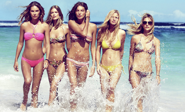 Bright bikini babes in H&M Swimwear