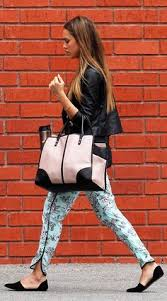 She's a fan: Jessica Alba is often spotted wearing various colours of the JK D'Orsay flat. Jalouse.