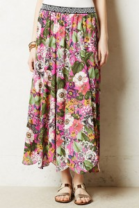 High ROC (return on compliment): Maeve Banda Skirt from Anthropologie