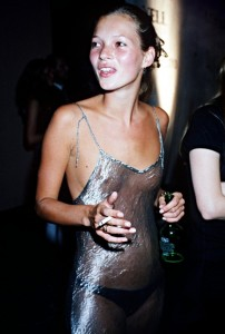 Kate Moss circa 1993 in a metallic Liza Bruce slipdress. Whenever you're flat-chested, it comes off less slutty more fashion, non?