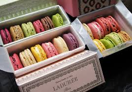 Decadent delights: I shared the macarons this time. They come in the most beautiful little boites, non?