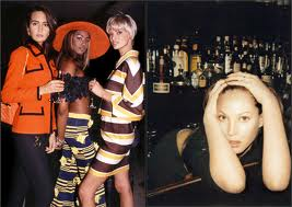 Wayback playback: Supermodels at Indochine.  FIN.