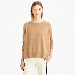 I'm so fancy, you already know: J. Crew cashmere sweater in camel
