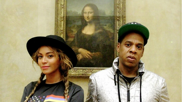 Only Beyoncé & Jay-Z can take a selfie this close to the Mona Lisa because in real life, your access to it is 12 Asian tourists deep holding up those stupid selfie rods behind a red velvet rope.  True story. Leonardo is turning in his grave.