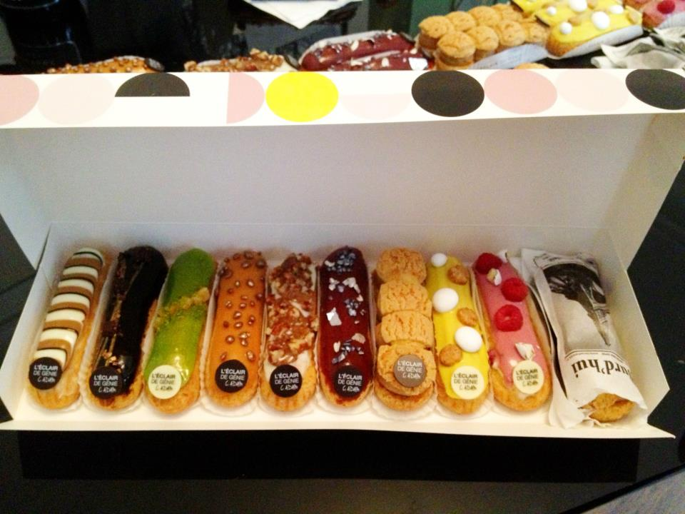 Heads up, the trendiest spot in town to get your éclair on is in Le Marais at L'eclair de genie.