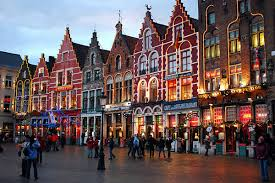 This is the image of beautiful Christmas Bruges that sold me. It was better in real life.